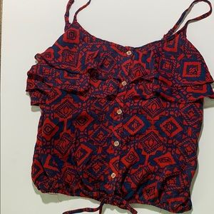 Charlotte Russe Tops - Patterned tank top